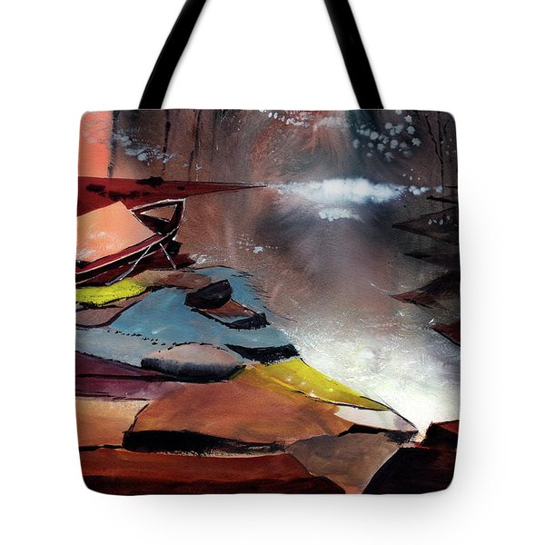 Tote Bag featuring the painting Ready To Leave by Anil Nene