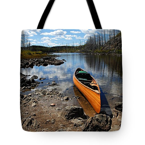 Ready To Paddle Tote Bag by Larry Ricker