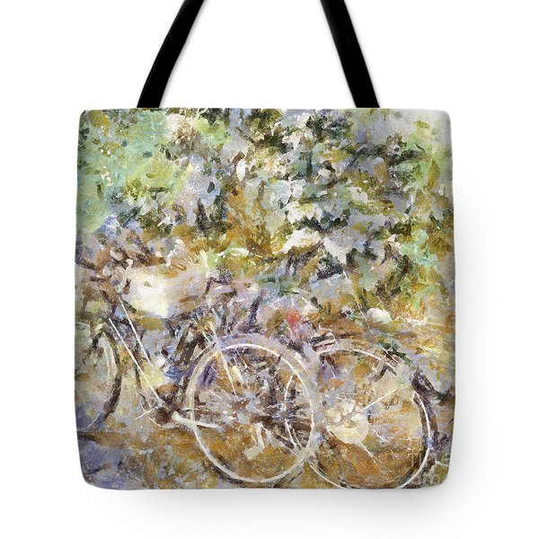 Ready To Ride Tote Bag by Shirley Stalter
