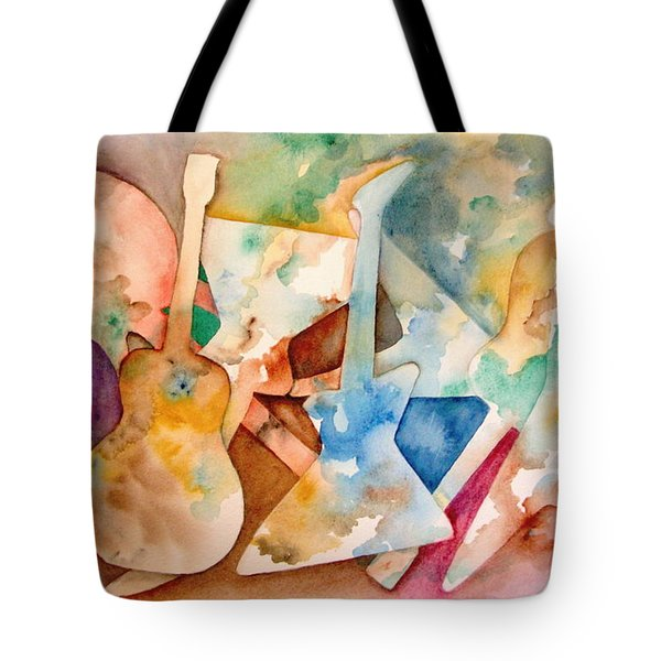 Tote Bag featuring the painting Ready To Rock by Mary Kay Holladay