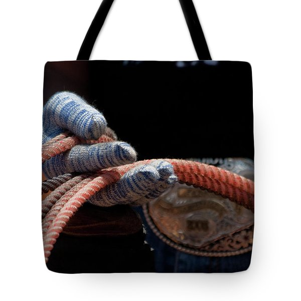 Tote Bag featuring the photograph Ready To Rope by Roger Mullenhour