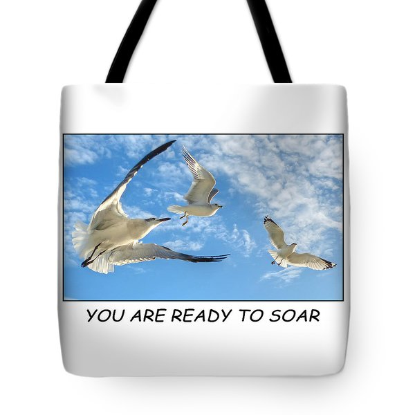 Ready To Soar Tote Bag by Geraldine Alexander