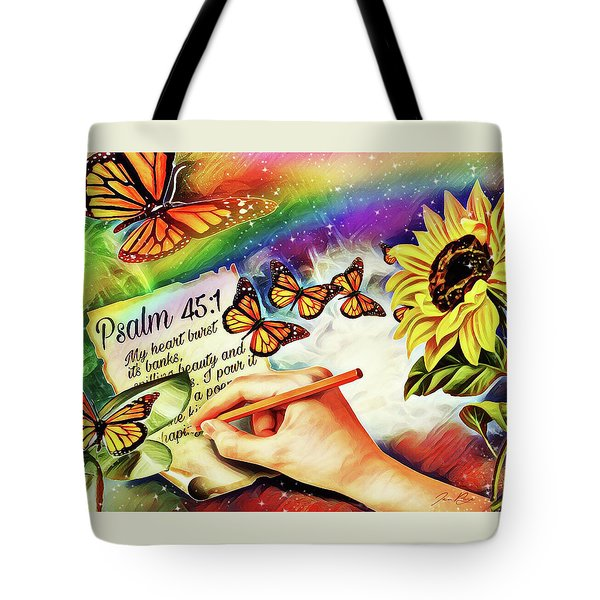 Tote Bag featuring the digital art Ready Writer by Jennifer Page