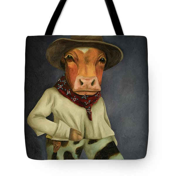 Real Cowboy 2 Tote Bag by Leah Saulnier The Painting Maniac
