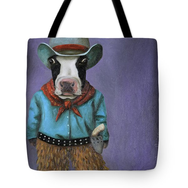 Real Cowboy Tote Bag by Leah Saulnier The Painting Maniac