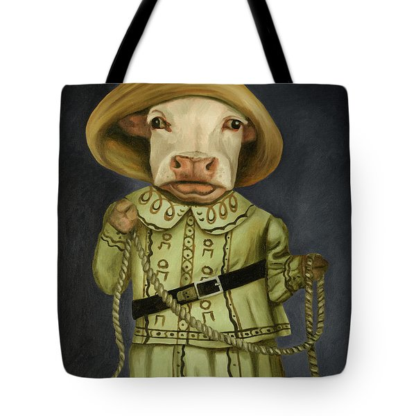 Real Cowgirl 2 Tote Bag by Leah Saulnier The Painting Maniac