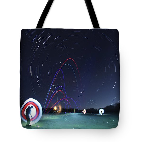 Real Golfers Even Golf At Night Tote Bag by Andrew Nourse