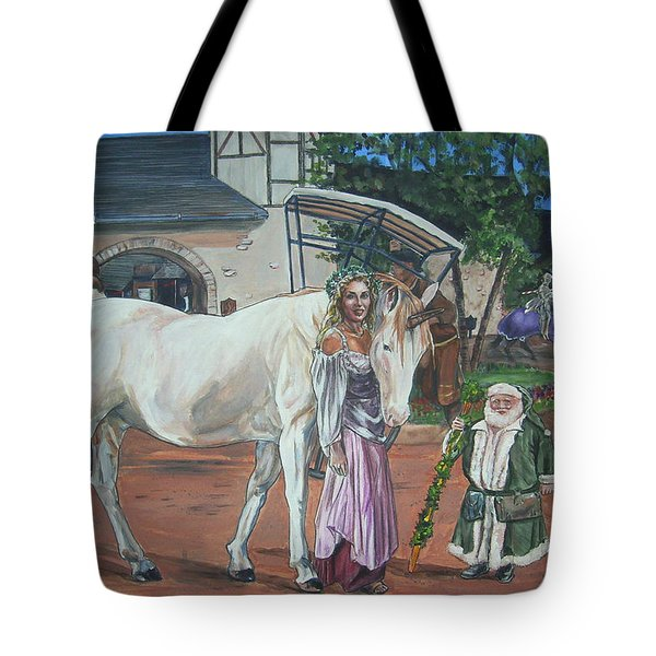 Tote Bag featuring the painting Real Life In Her Dreams by Bryan Bustard