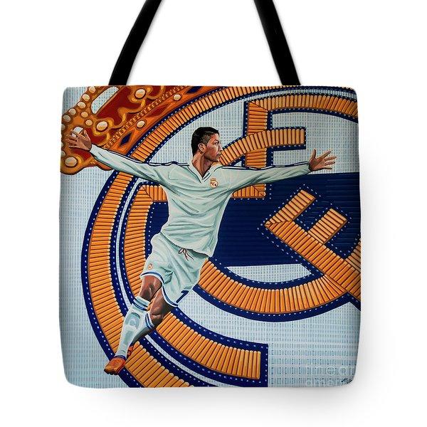 Real Madrid Painting Tote Bag