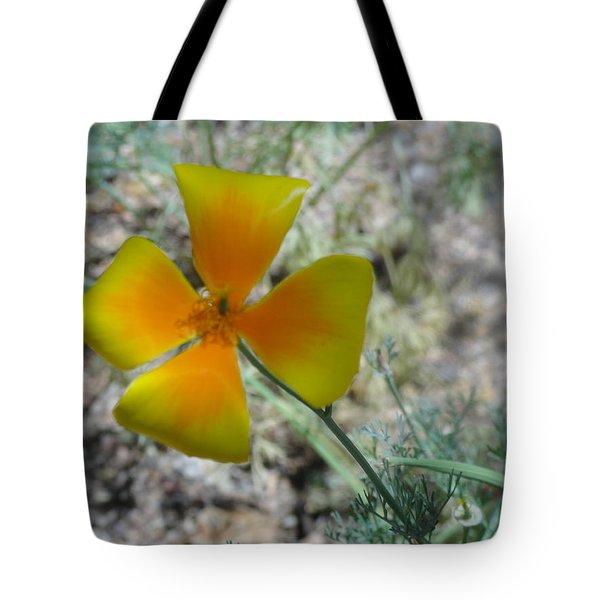 One Gold Flower Living Life In The Desert Tote Bag