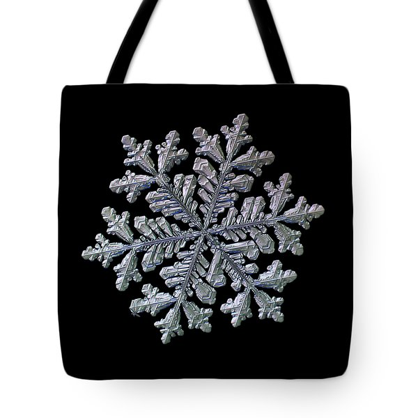 Real Snowflake - Hyperion Black Tote Bag