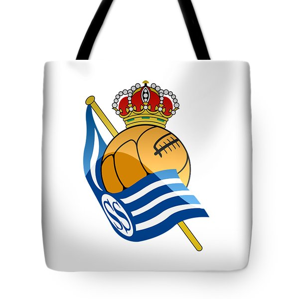 Real Sociedad De Futbol Sad Tote Bag by David Linhart
