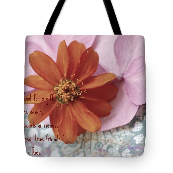 Tote Bag featuring the photograph Real True Friends by Donna Bentley