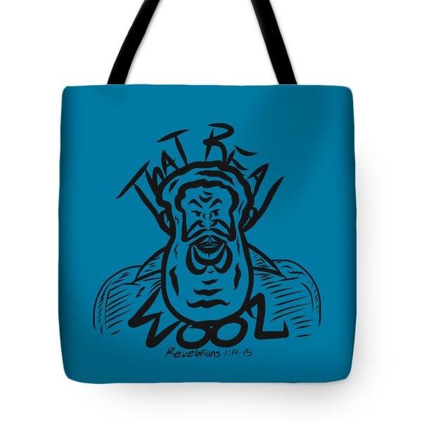 Real Wool Blue Tote Bag
