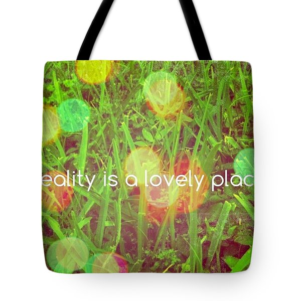 Tote Bag featuring the photograph Reality by Artists With Autism Inc