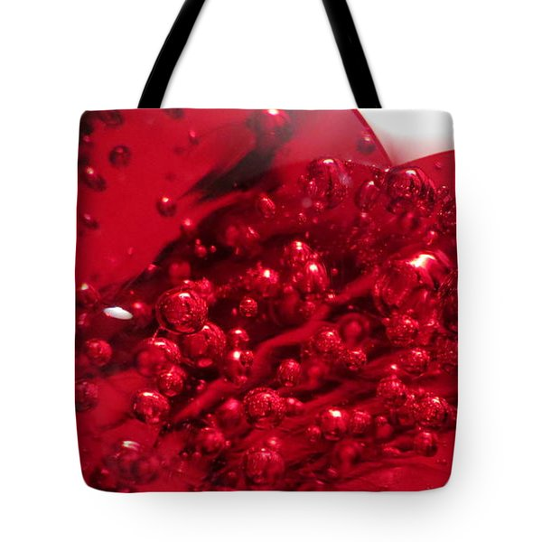 Tote Bag featuring the digital art Really Red by Kathleen Illes