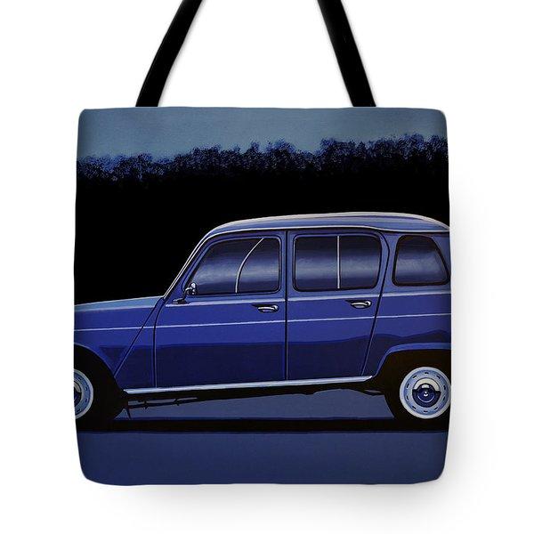 Renault 4 1961 Painting Tote Bag