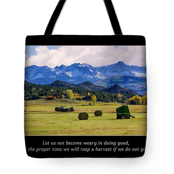 Reap A Harvest Tote Bag