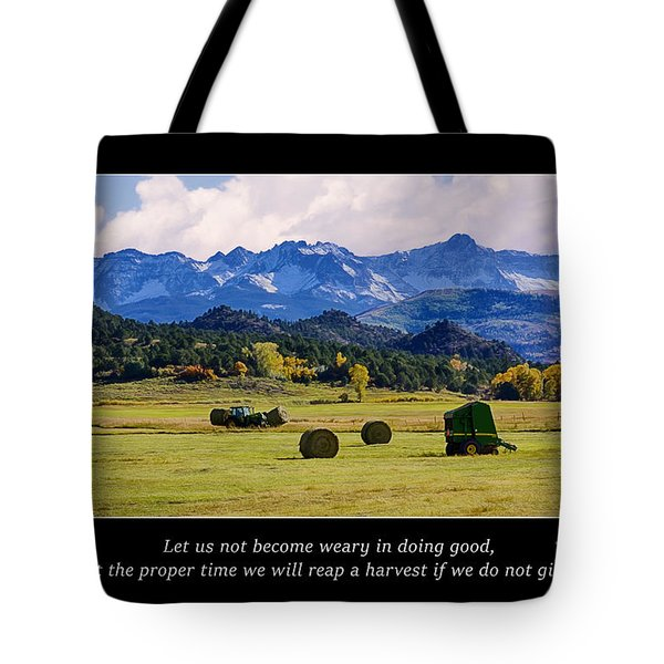 Reap A Harvest Tote Bag