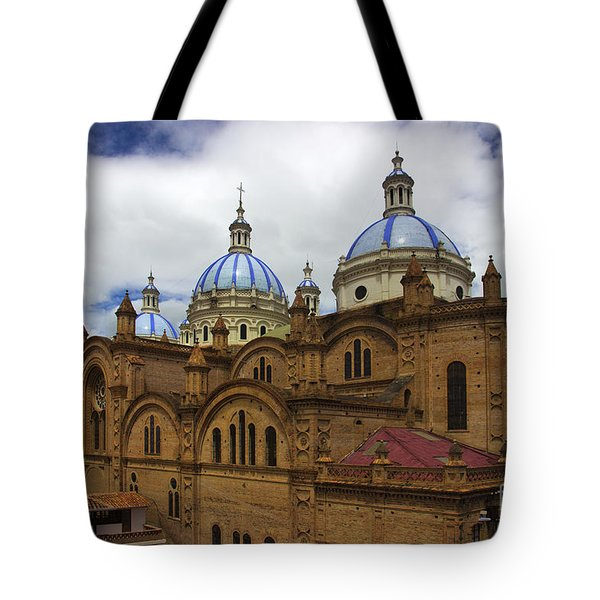 Rear Corner View Of Immaculate Conception Cathedral Tote Bag