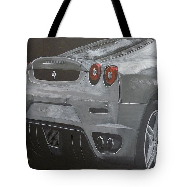 Tote Bag featuring the painting Rear Ferrari F430 by Richard Le Page