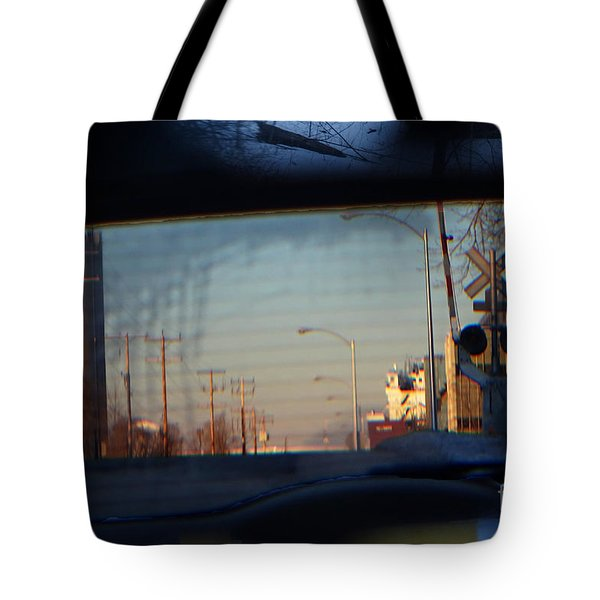 Tote Bag featuring the digital art Rear View 2 - The Places I Have Been by David Blank