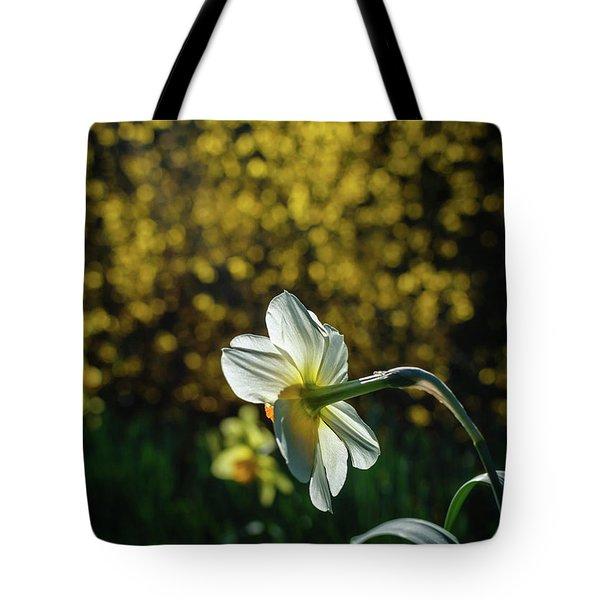 Rear View Daffodil Tote Bag