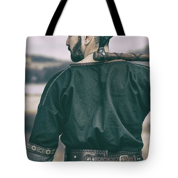 Rear View Of Warrior Tote Bag