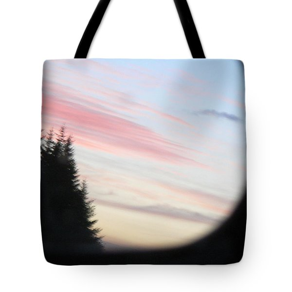 Rear View Sunset Sky Tote Bag by Pamela Patch