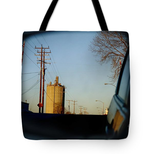 Tote Bag featuring the digital art Rear View - The Places I Have Been by David Blank
