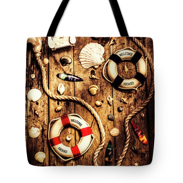 Rearranging The Deck Chairs Tote Bag