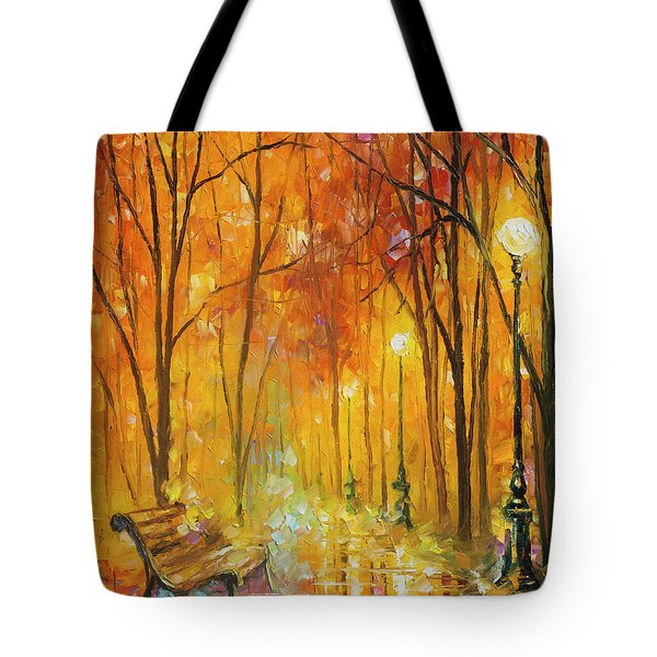 Reasons Of Autumn  Tote Bag by Leonid Afremov