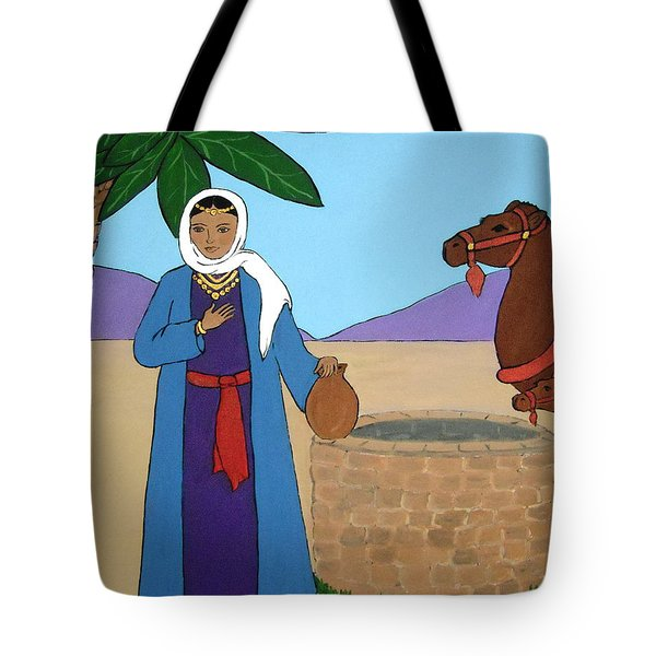 Tote Bag featuring the painting Rebecca At The Well by Stephanie Moore