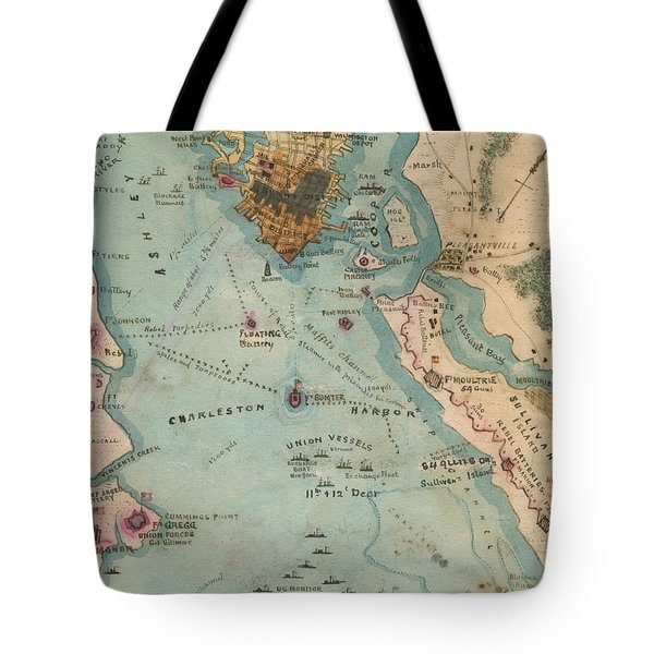 Rebel Defenses Of Charleston Harbor Tote Bag