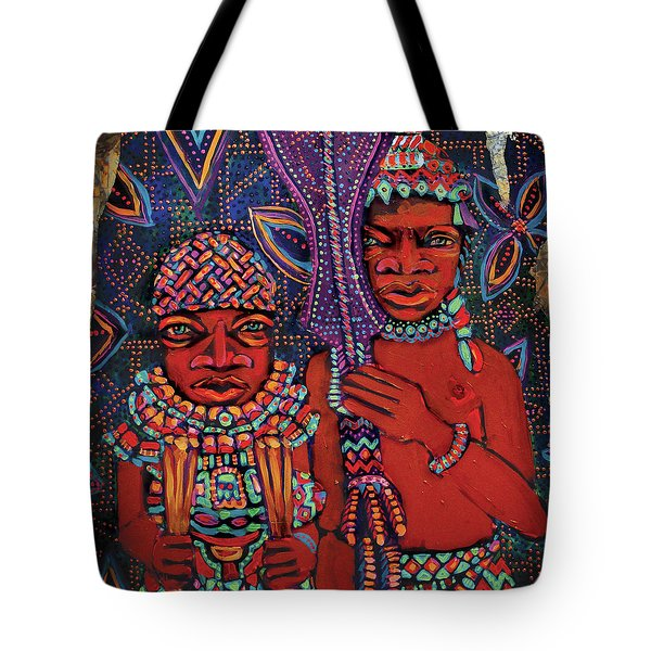 reCalling the Spirit Attendants with Paddles Tote Bag