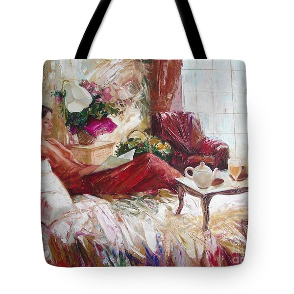 Recent News Tote Bag by Sergey Ignatenko
