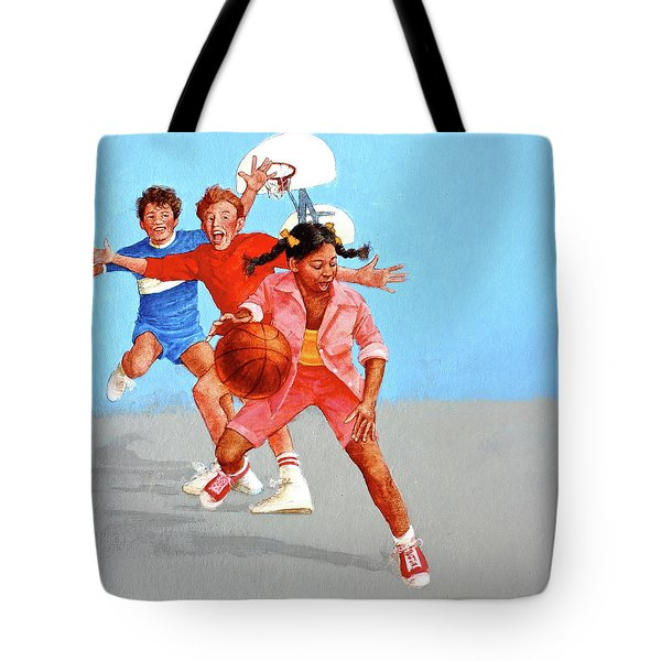Tote Bag featuring the painting Recess by Cliff Spohn