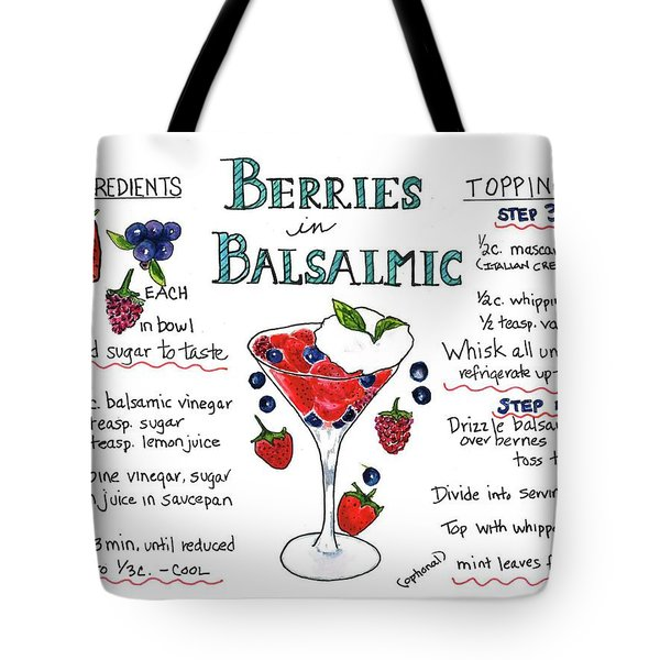Tote Bag featuring the painting Recipe- Berries In Balsamic by Diane Fujimoto