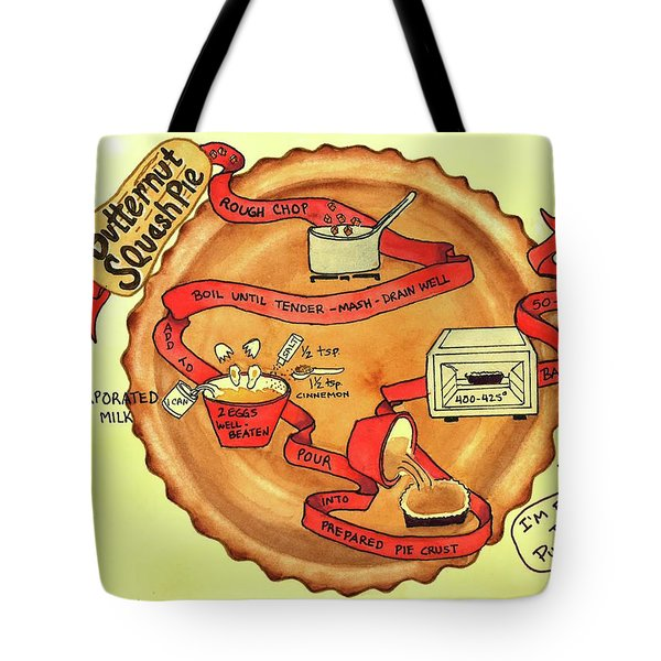 Recipe-butternut Squash Pie Tote Bag