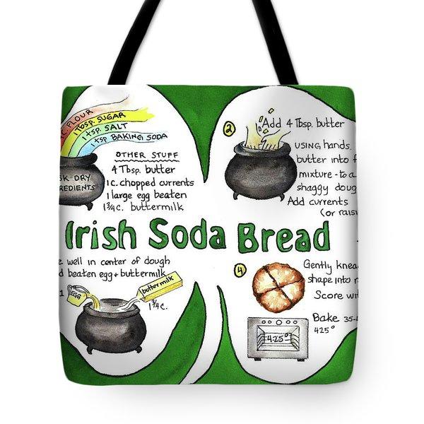 Tote Bag featuring the painting Recipe - Irish Soda Bread by Diane Fujimoto