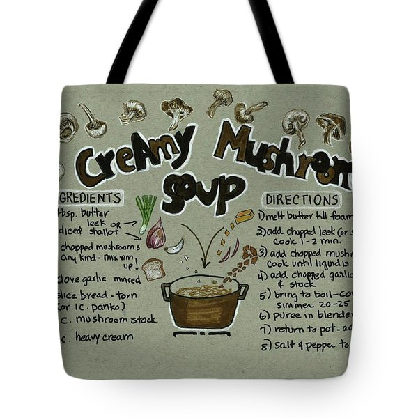 Recipe Mushroom Soup Tote Bag