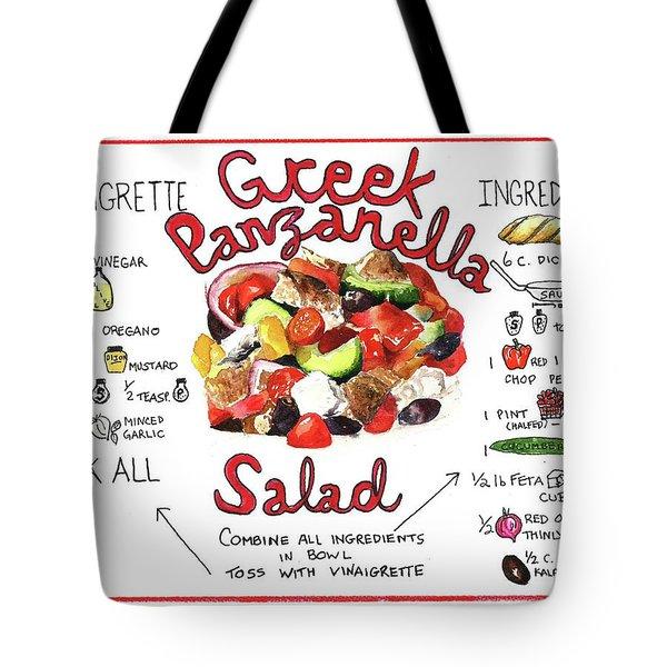 Tote Bag featuring the painting Recipe- Panzanella Salad by Diane Fujimoto
