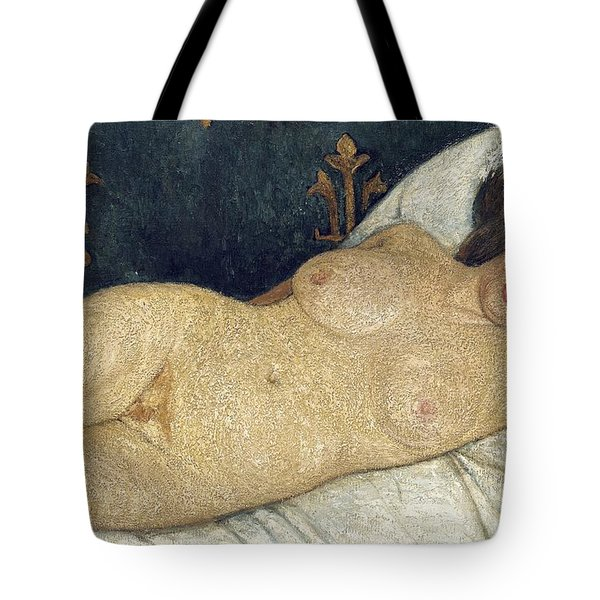 Reclining Female Nude Tote Bag by Paula Modersohn-Becker