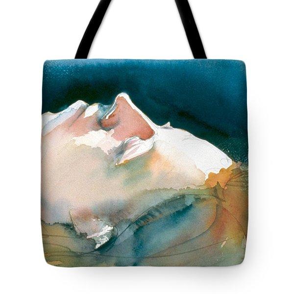 Reclining Head Study Tote Bag