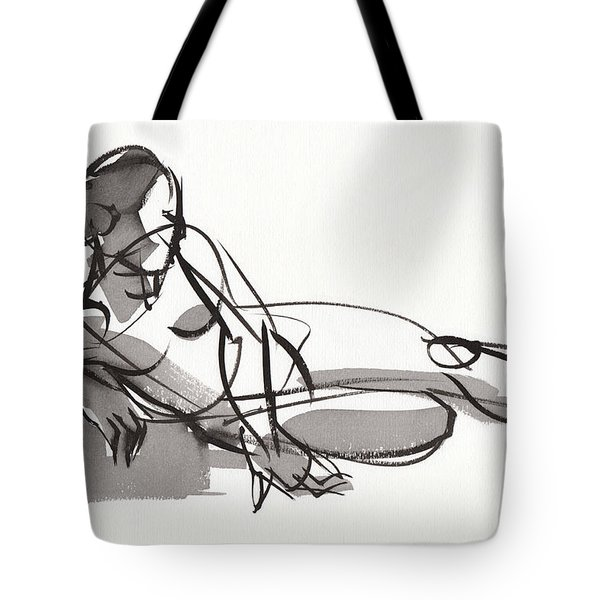 Tote Bag featuring the painting Reclining by Judith Kunzle