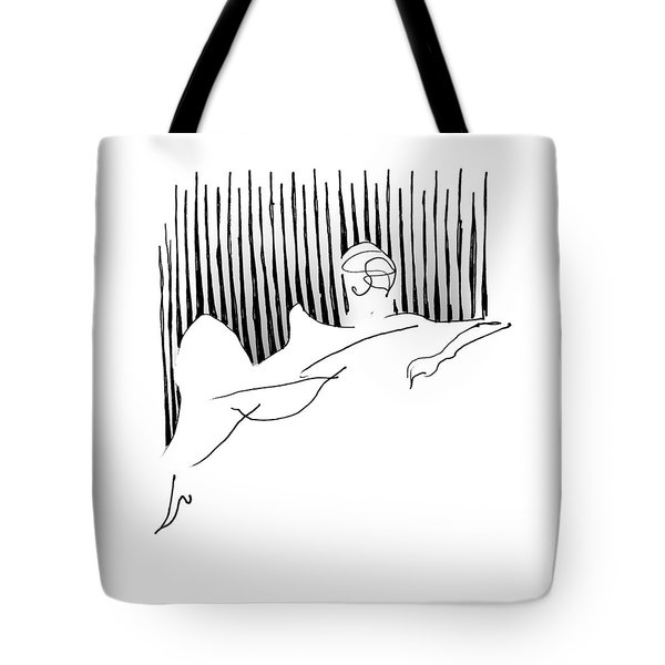 Reclining Lady Tote Bag by Keith A Link