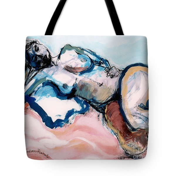 Reclining Multi-coloured Gestural Nude Tote Bag
