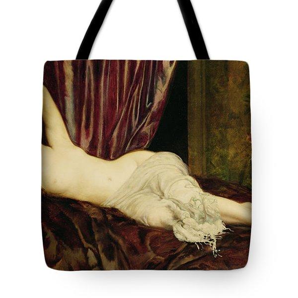 Reclining Nude Tote Bag by Henri Fantin Latour
