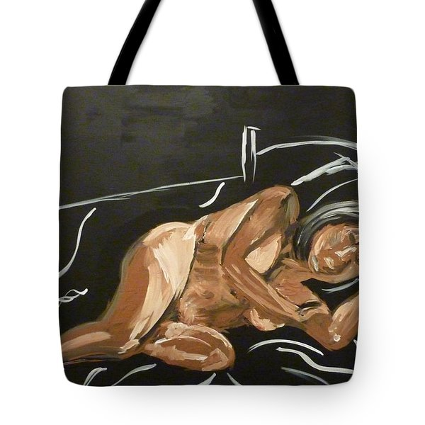 Tote Bag featuring the painting Reclining Nude by Joshua Redman