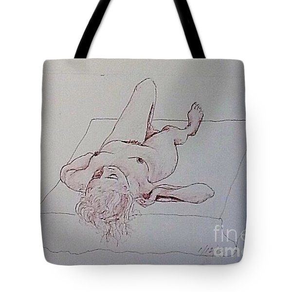 Reclining Nude Lady Tote Bag